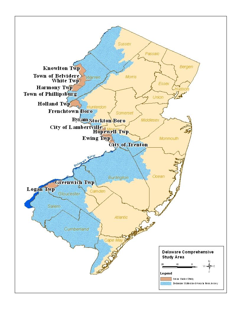 Delaware River Map on