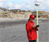 Survey Technician Angelica De-Hoyos Molina uses GPS to survey damages along the New Jersey shore following historic Hurricane Sandy. The U.S. Army Corps of Engineers Philadelphia District has sent teams to inspect the coast lines of New Jersey and Delaware.