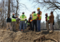 USACE and PWD officials tour the project site at Indian Creek, a tributary of the Cobbs Creek watershed on April 5. The project is designed to reduce combined sewage overflow and improve habitat.