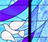 The stained glass window in the interior of the new Chapel Center at Dover Air Force Base. The new chapel was built by the Philadelphia District of the Army Corps of Engineers.